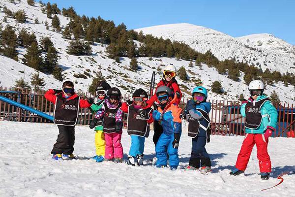 curso de esqui baby