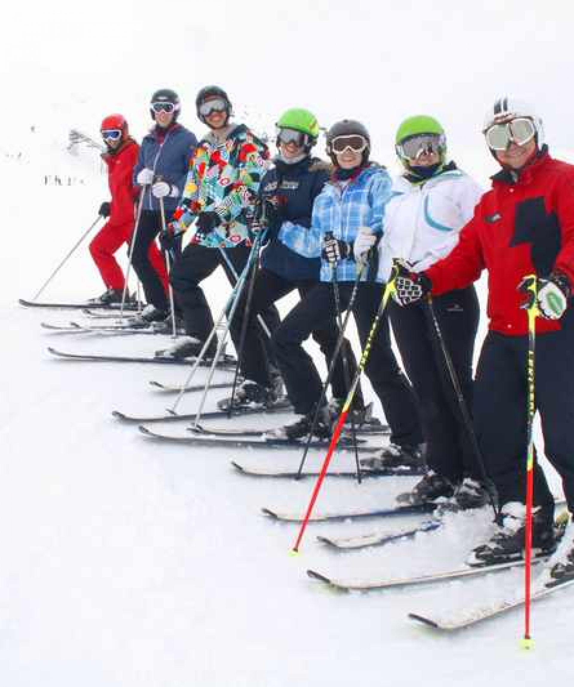 viaje de esqui y curso
